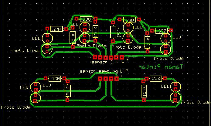 Gambar 3. Rangkaian Sensor Line Follower Analog